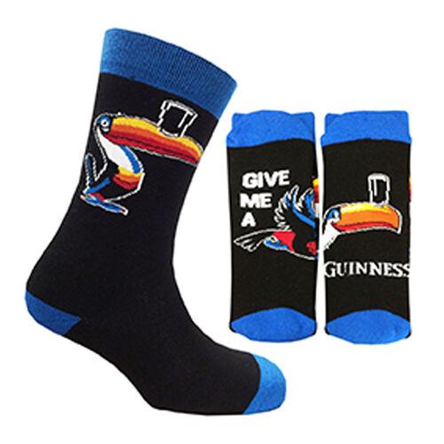 Guinness  Black Blue Toucan Novelty Socks