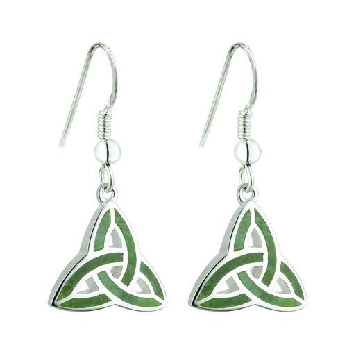 Solvar S/S Connemara Trinity Knot Drop Earrings